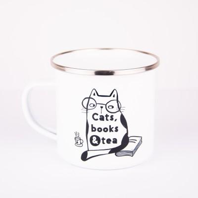 Šalica s natpisom Cats